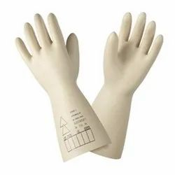 Safety Gloves White Honeywell Electrical Gloves- Class 2 2091921 Electrosoft 17kw, Size: Large