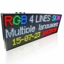 digital RGB SIGN BORD
