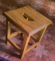 Wooden Head Massage Stool
