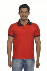 Mens Red Polo T Shirts