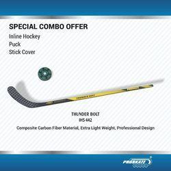 Proskate Black Inline Hockey Stick, Size: 66