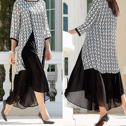 Party Wear 3/4th Sleeves Ladies Stylish