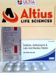 Cefixime 200 Mg  Azithromycin 250 Mg With LB Tablets Pharma Franchise
