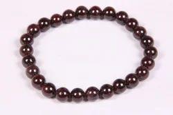 Smooth Round Garnet Bracelet