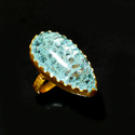 Rough Gemstone Gold Plated Fashion Ring for Girls Tribal Jewelry for Women