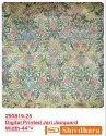 Digital Printed Jari Jacquard Fabric