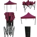 Quick Foldable Gazebo Tent - Heavy Duty - 10'x10' - Wine Red