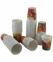 Disposable paper glass 250ml printed, Capacity: 250 ML