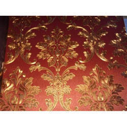Royal Pattern Decorative Damask Wallpaper, Thickness: 2-4 Mm