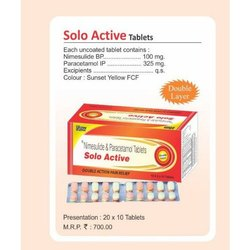Double Layer Solo Active Tablets, Packaging Size: 20x10 Tablet