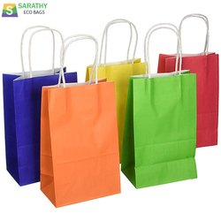 Multicolor Kraft Paper Shopping Bag