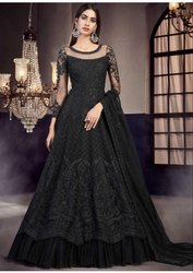 Semi Stitched Bridal Wear Gown