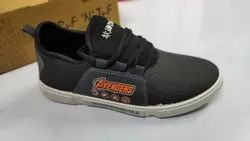 Daily Wear Grey, Black Avengers Canvas Shoes, Size: 6-10