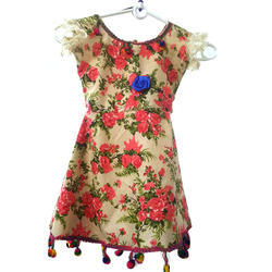Regular Wear Printed Cotton Frock