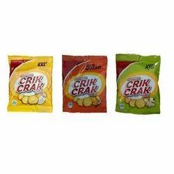 Salt,Cheese And Garlic 25 Gram Crik Crak Biscuits, Packaging Type: Pouch
