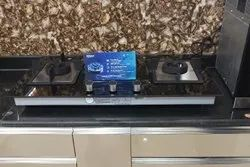 Stainless Steel Black Gas Stove for Kitchen, Size: Manual
