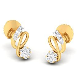 Unique Diamond Gold Earring