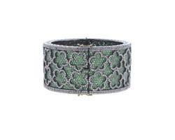Tsavorite Diamond Bangle Bracelets
