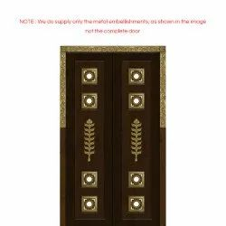 Pooja Room Door with Bell Accessories