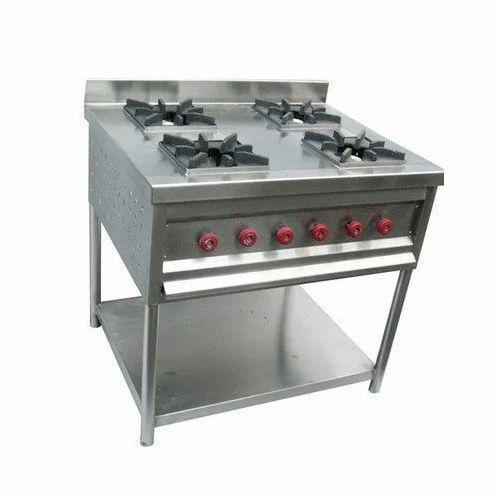 Stainless Steel Four Burner Range