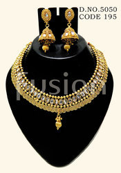 Traditional Polki Stone Necklace Set