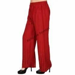 Ladies Cotton Chikan Palazzo