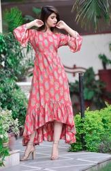 Cotton Printed Skc Kurtis for Girl