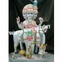 Hindu God Marble Dattatreya Statue