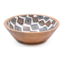 Salad Wooden Enamel Bowl