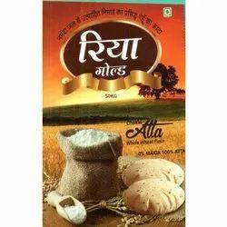 Indian Wheat 50 Kg Riya Gold Atta, 6 Months, Bag
