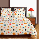Swayam Signature Printed Cotton Single Bedsheet with 1 Pillow Cover - Multicolor