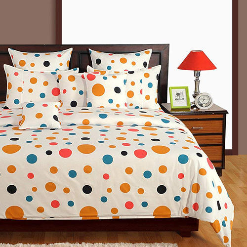 8460b95406 Swayam Signature Printed Cotton Single Bedsheet with 1 Pillow Cover -  Multicolor