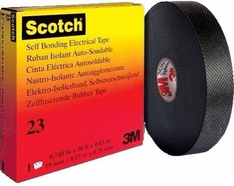 Vinyl Electrical Tapes - 3m Scotch 23 All Voltage Rubber