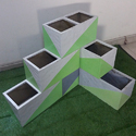 FRP Corner Stackable Planter