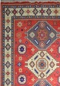 Traditional Style Hand-Knotted Deep Red Color Carpet