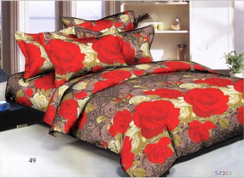 fd5ca10631c Printed Glace Cotton Double Bedsheets