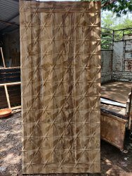 Finished Polished Teak Wood Color 3d Membrane Door, Thickness: 35 Mm, Wooden
