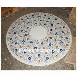 Round Marble Inlaid Table Tops