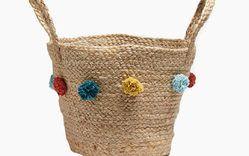 Jute Baskets with Pom Poms