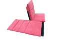 Adjustable Floor Lounger Yoga Meditation Chair (Twin) - CARROT RED
