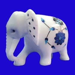 Marble Inlay Elephants Home Decoration