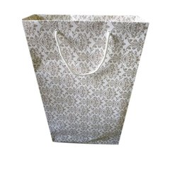 Printed Kraft Paper Handmade Paper Bag, Capacity: 2-5 Kg