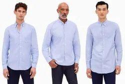Collar Neck Long Sleeve Mens Shirt