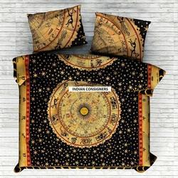 Cotton Fancy Printed Double Bedsheet, For Home, Hotels, Size: 55x85 Inch