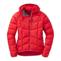 Mens Red Full Sleeves Hooded Jacket