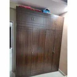 Wooden Brown Designer Modular Wardrobe