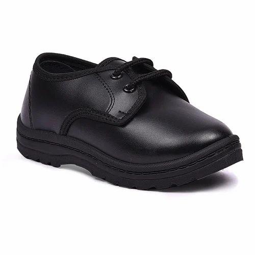 PVC Gold Star School Uniform Shoes Black Velcro e22ca0607