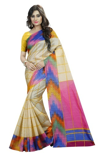 a904aea9f0 Printed Wedding Wear Mastani Latest Cotton Silk Saree For Women, With Blouse  Piece
