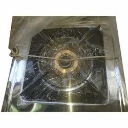 Stainless Steel (Body) Single Burner Gas Stove, Size: 12x12 Inch