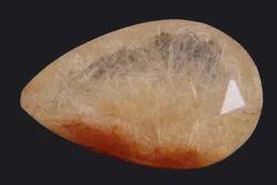 8.40 Carat Brown Rutile Pear